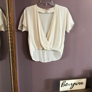 Forever 21 Plunging V-neck Shirt NWOT